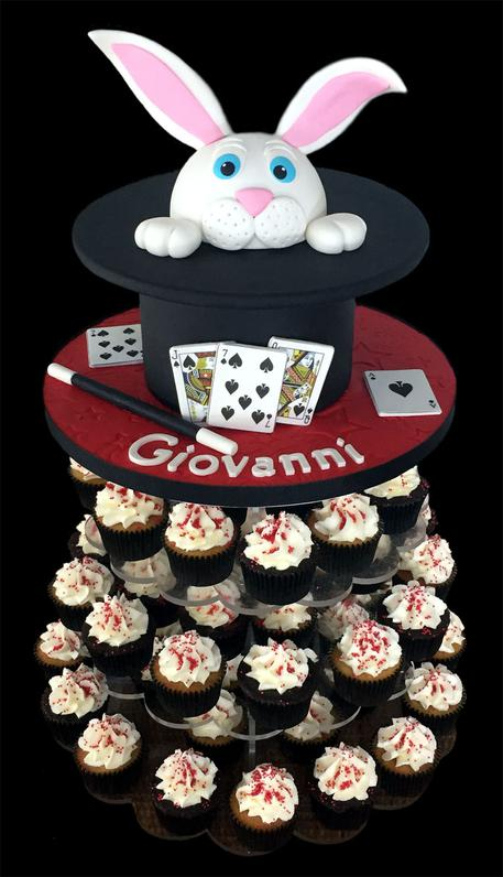 Magic Theme Birthday Cake & Cupcake Tower
