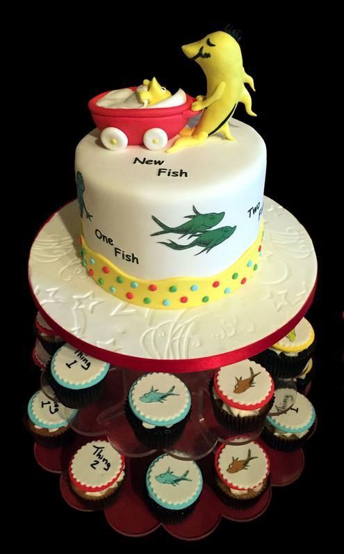 Dr Suess Birthday Cake