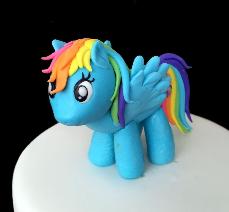 Rainbow Pony Birthday Cake
