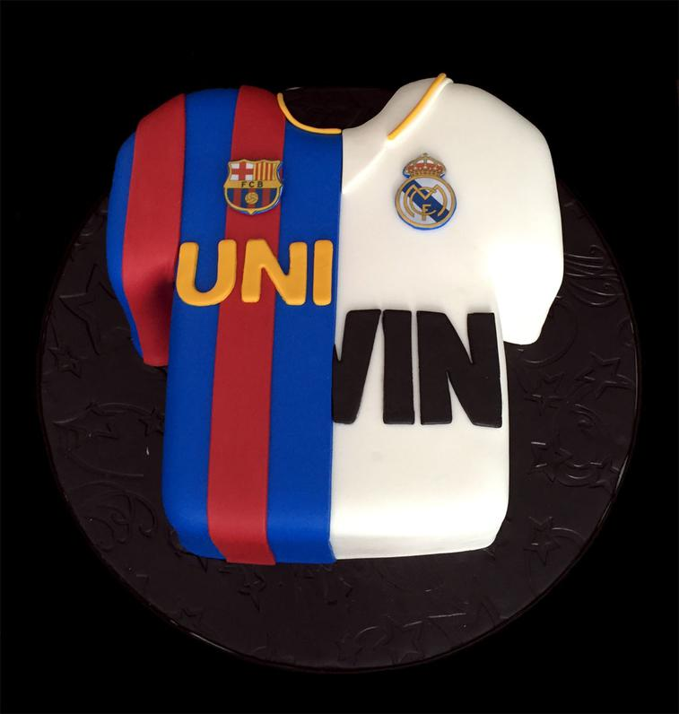 Soccer Sports Team Fondant Cake