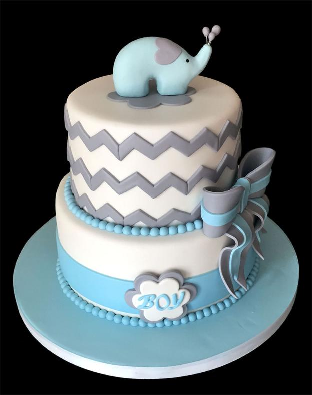 Elephant Girl Baby Shower Cake