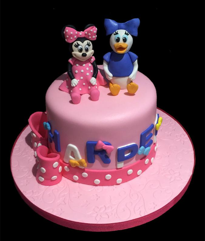 Minnie & Mickey Mouse Birthday Cake