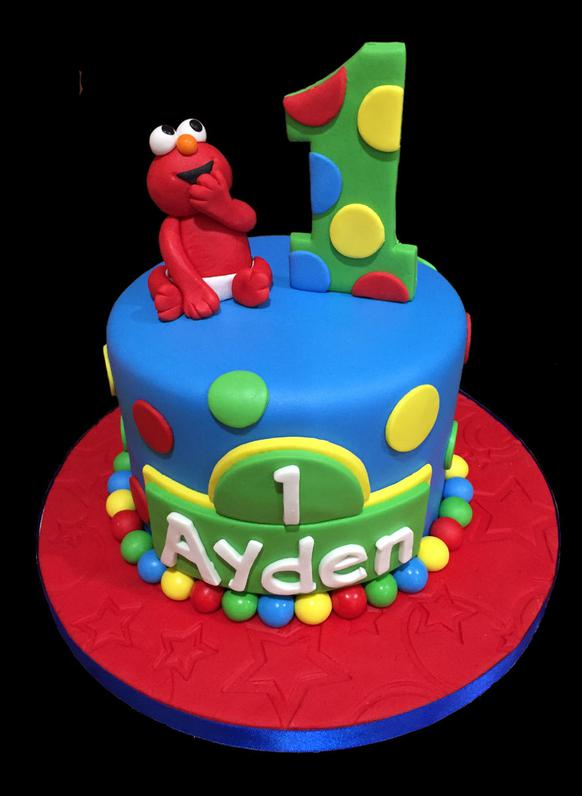 Baby Elmo Birthday Smash Cake