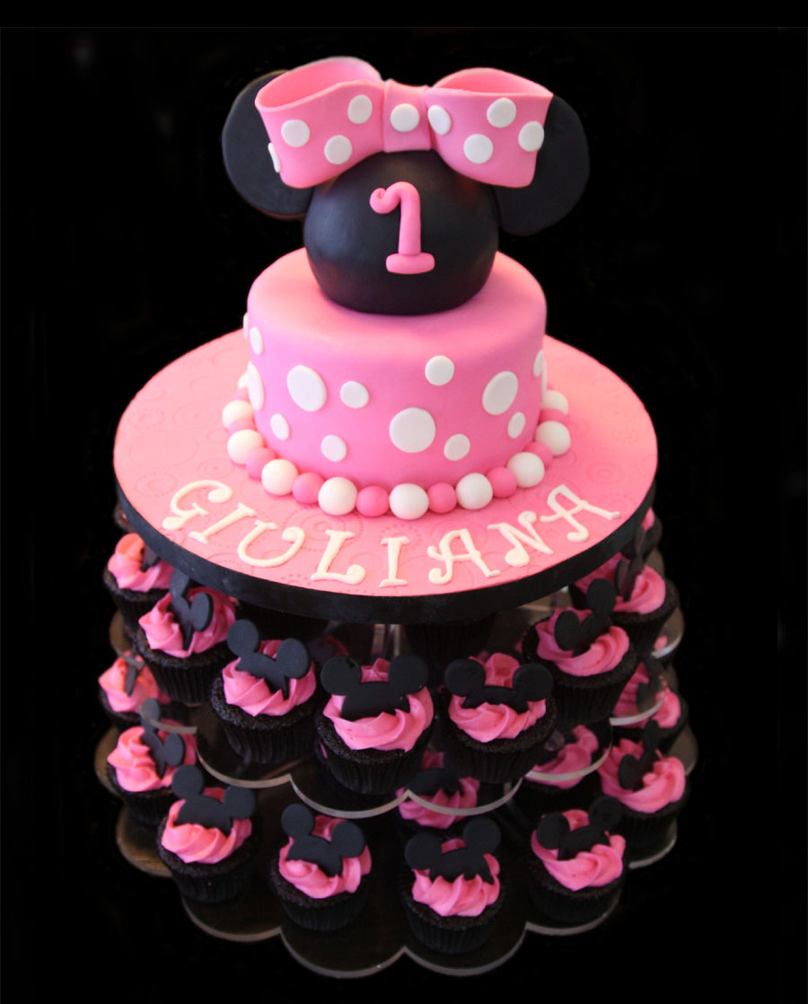 Pretty In Pink Minnie Mouse Birthday Cake