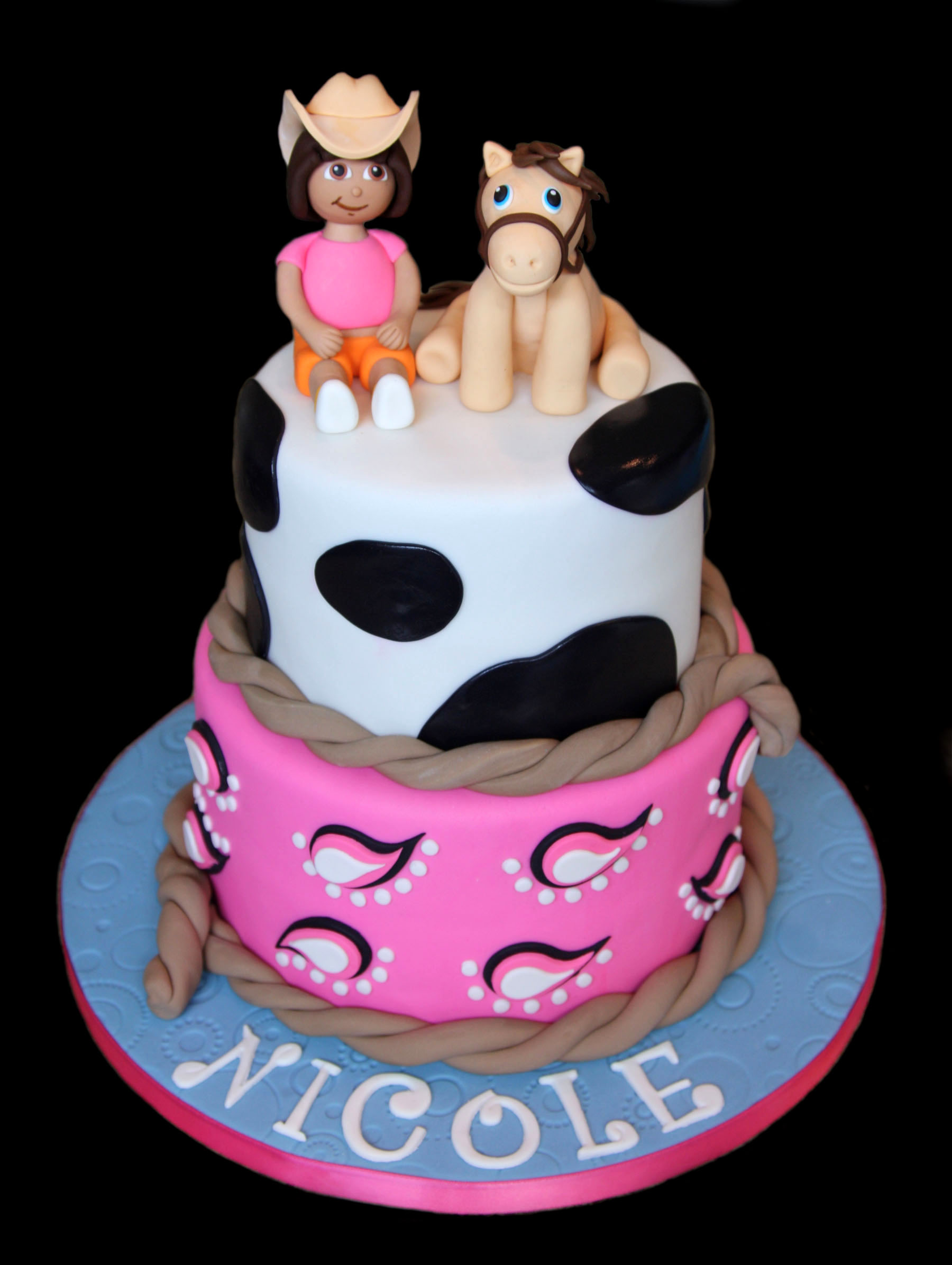 Cowgirl with Pony Custom Birthday Cake