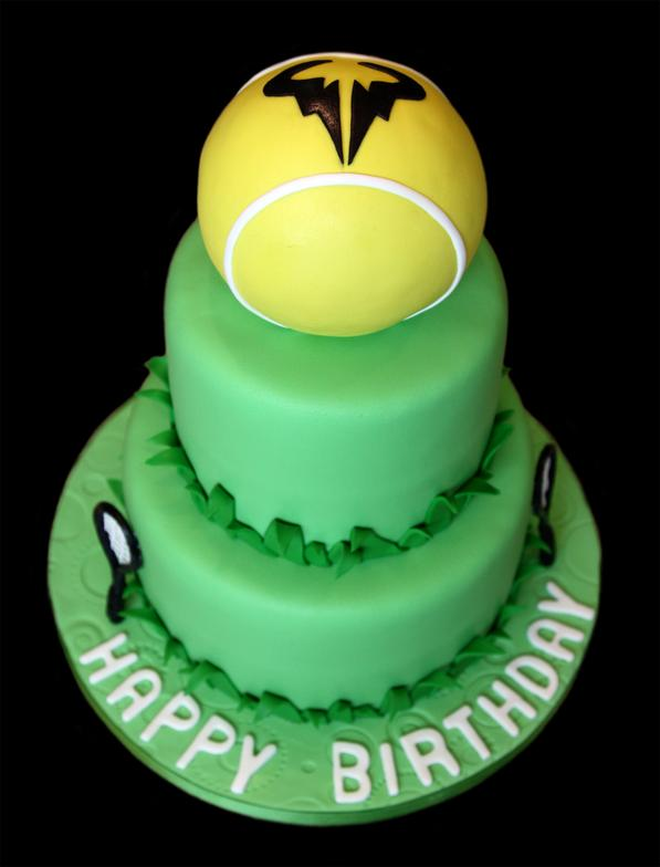 Tennis Theme Custom Birthday Cake