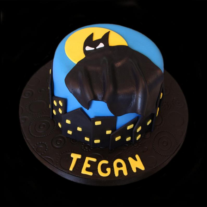 Bat-Man Birthday Cake