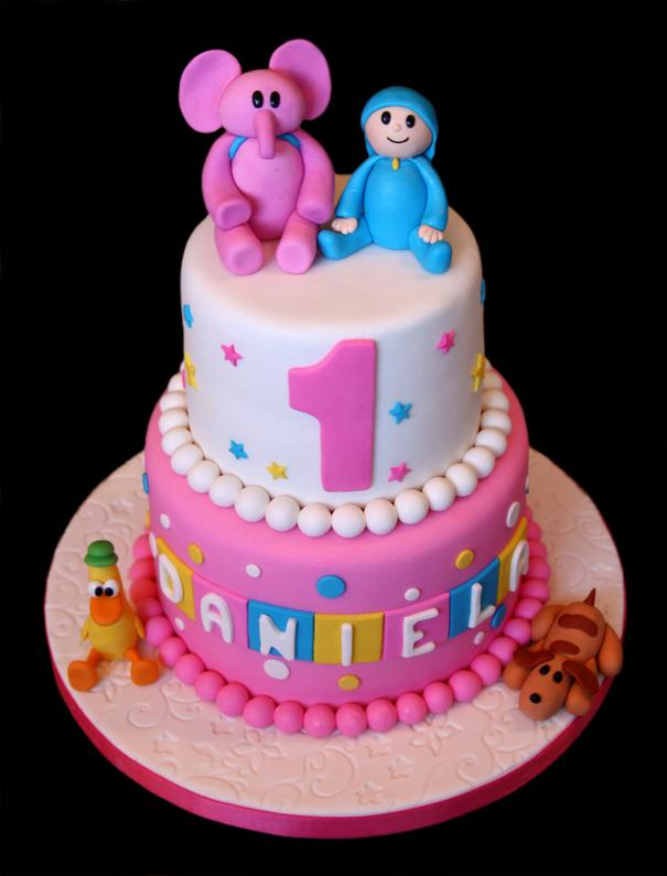 Pocoyo First 1st Birthday Cake
