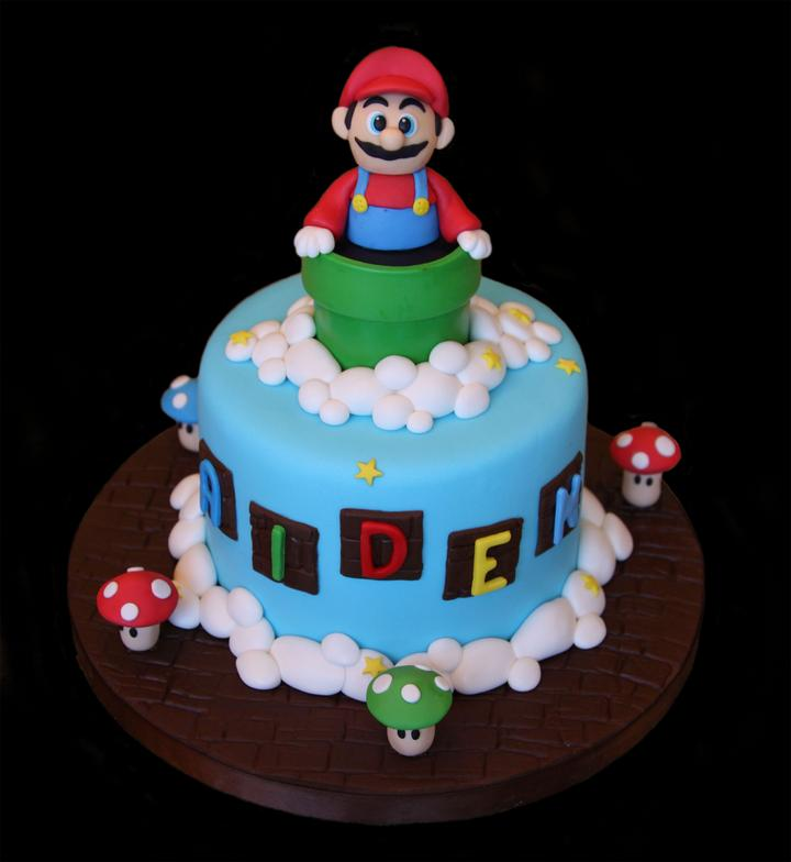 Mario Theme Birthday Cake