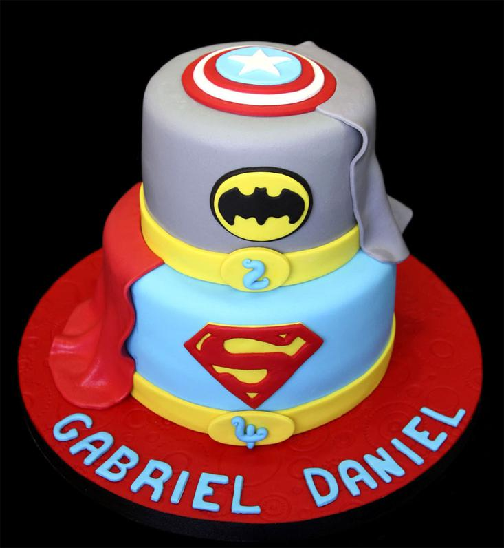 SuperHero Custom Birthday Cake