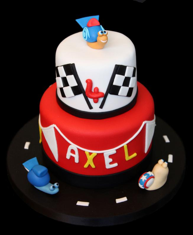 Turbo Race Theme Birthday Cake