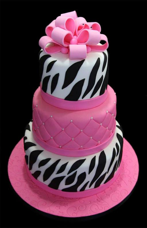 Zebra Stripe Birthday Cake