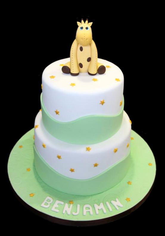 Little Giraffe Baby Shower Cake