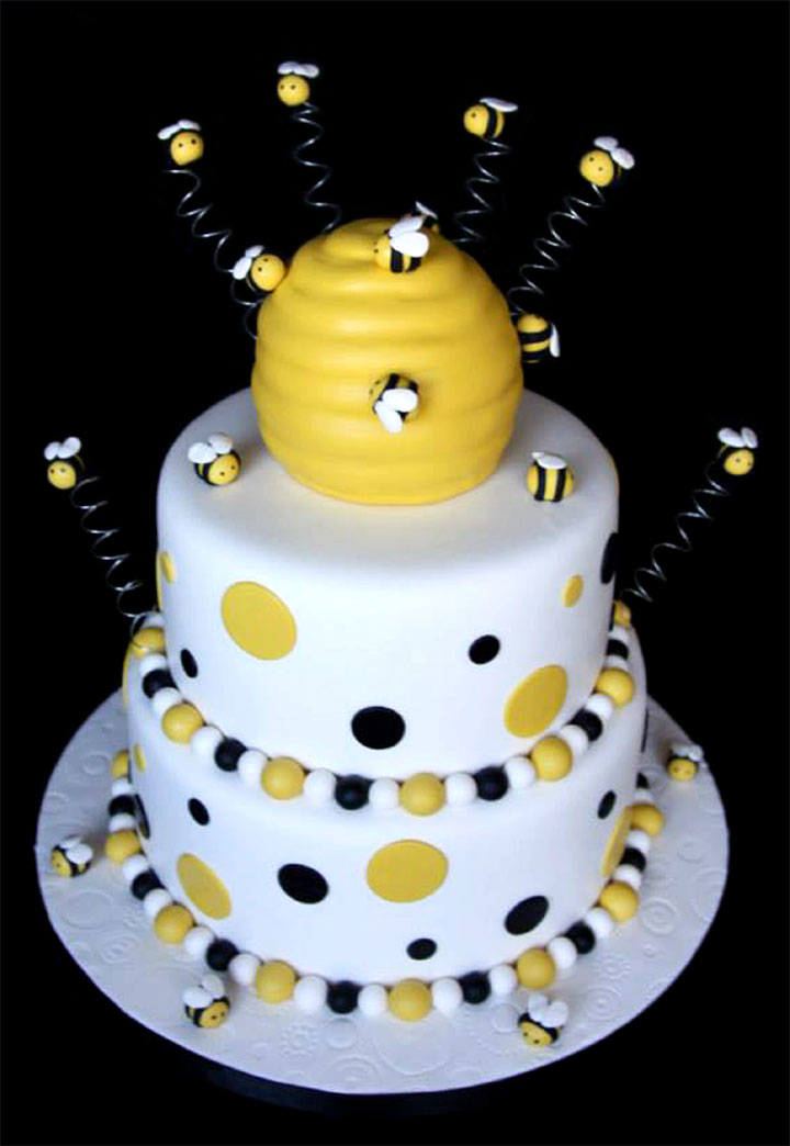 "Busy Bumble ""Bee"" Baby Shower Cake"