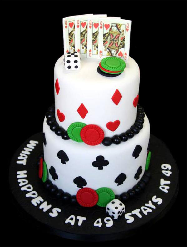 Las Vegas Card Party Custom Cake