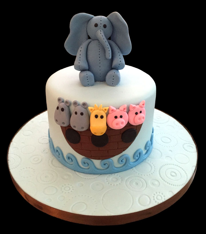 Little Elephant Noahs Ark Baby Shower Cake