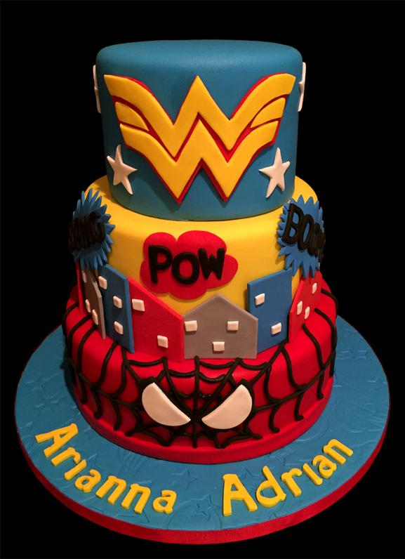 Super-Hero Birthday Cake