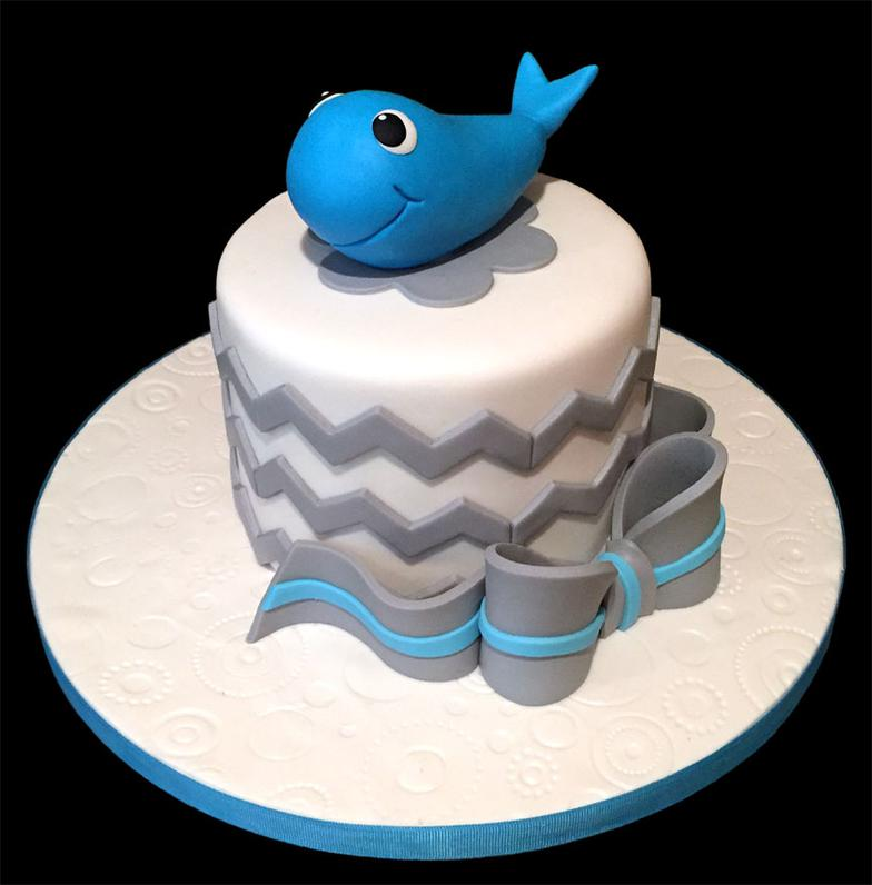 Baby Whale Smash Cake