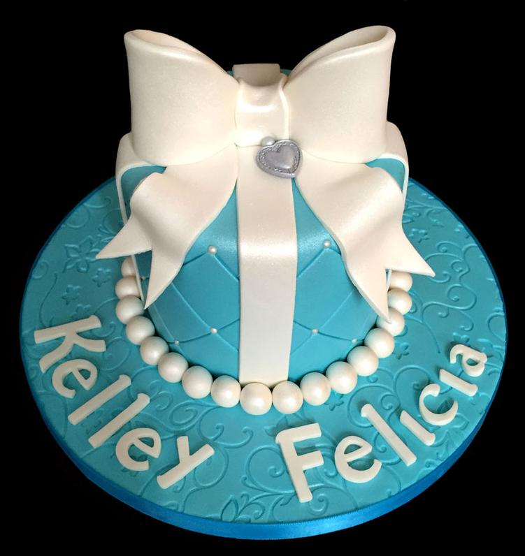 Tiffany Theme Birthday Cake