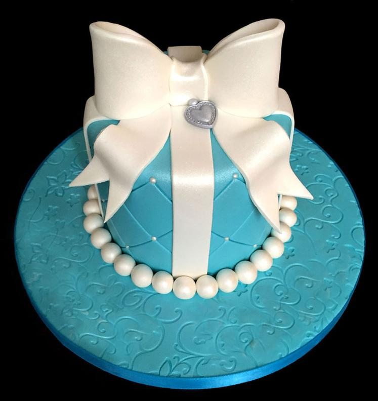 Tiffany Theme Bridal Shower Cake