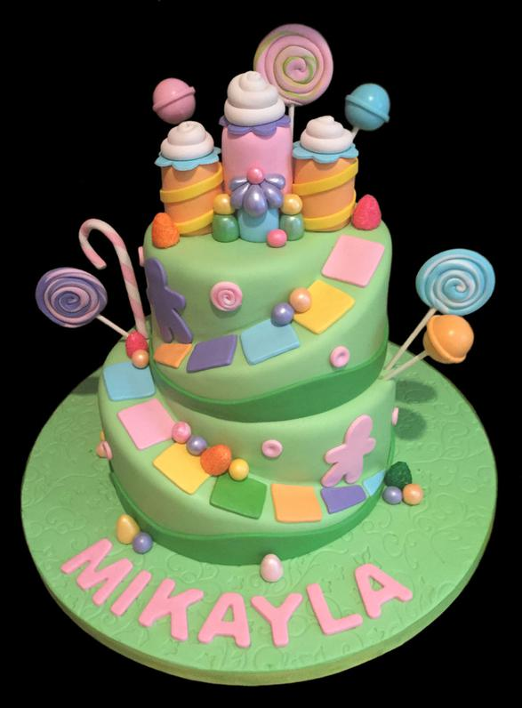 Candy Land Custom Decorated Birthday Cake