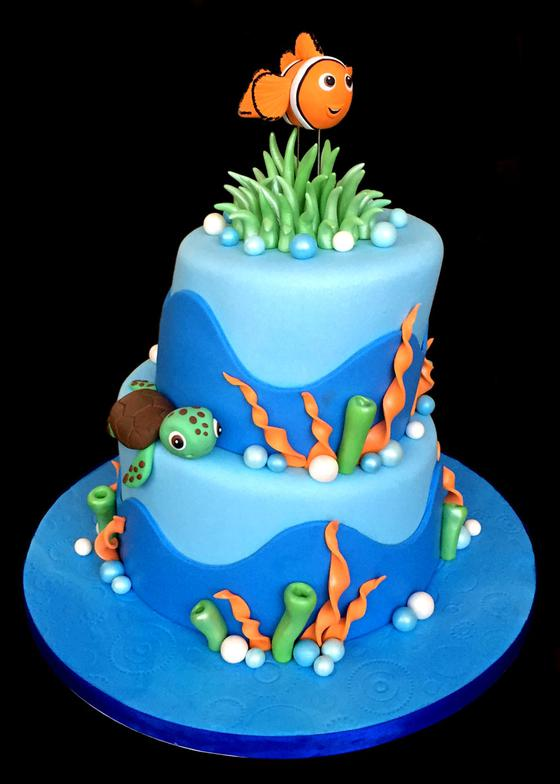 Finding Nemo Custom Decorated Birthday Cake