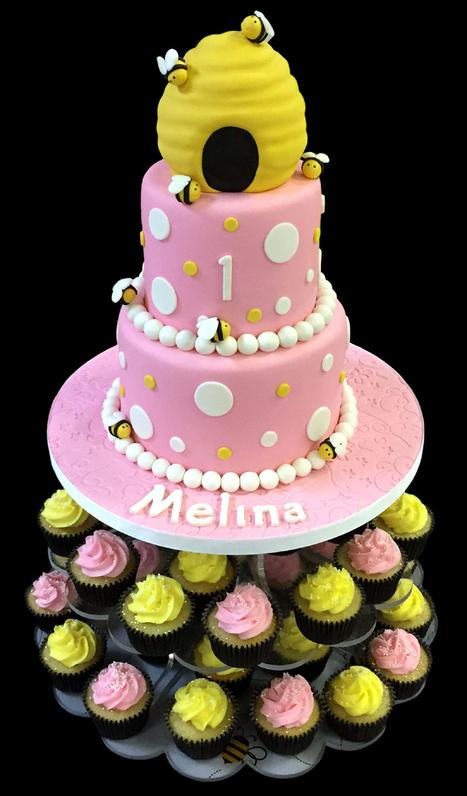 Beehive Custom Decorated Fondant Cake