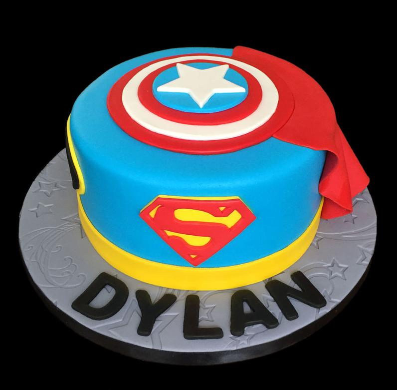 SuperMan Super Hero Cake