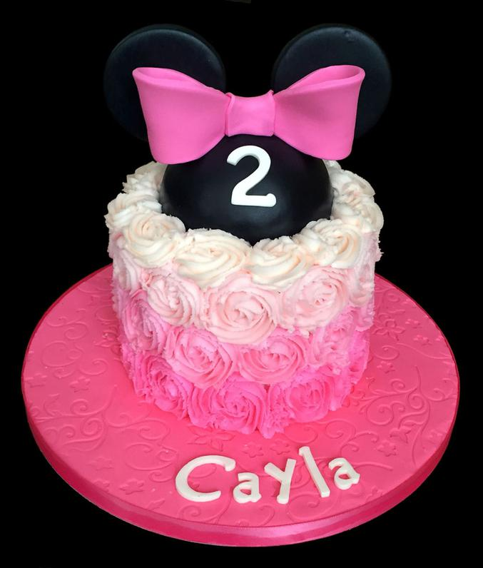 Minnie Mouse Custom Birthday Cake