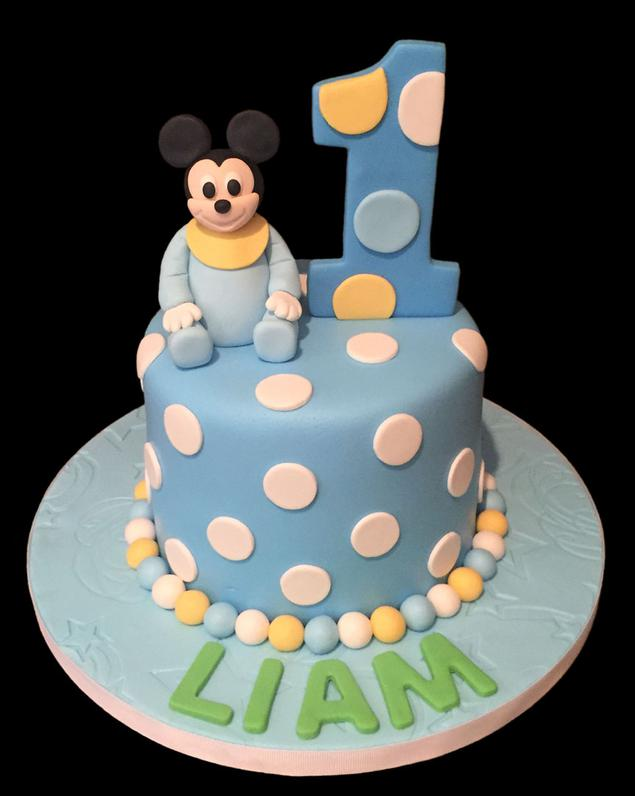 Baby Mickey Mouse Custom Birthday Cake