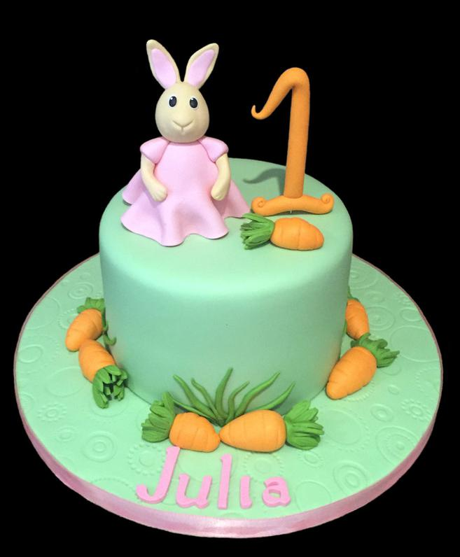 Peter Rabbit Bunny Custom Birthday Cake
