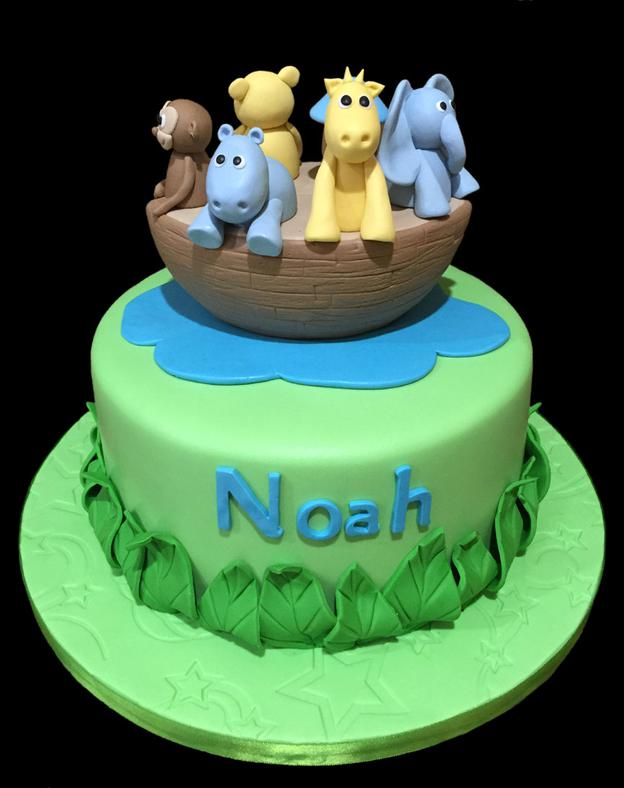 Noahs Ark Baby Shower Cake
