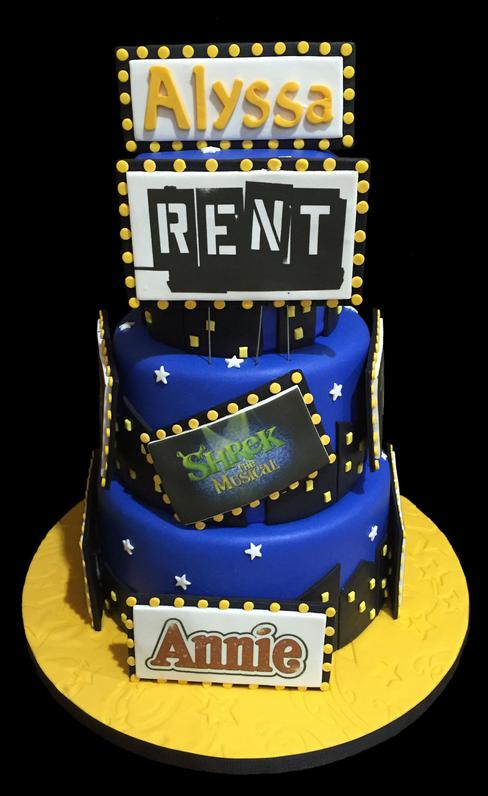 Broadway Show Actor Theme Fondant Cake