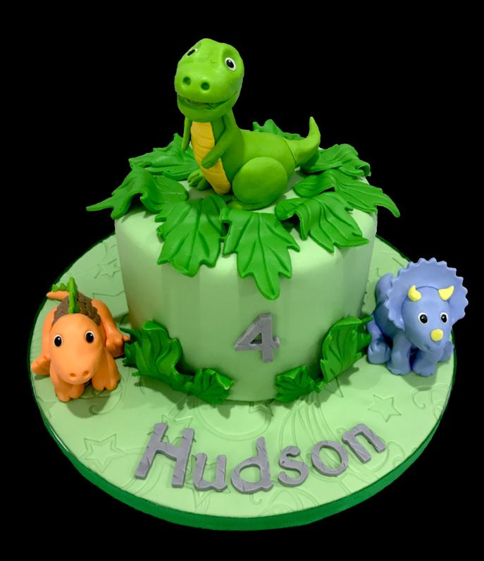 Little Dinosaur Birthday Cake