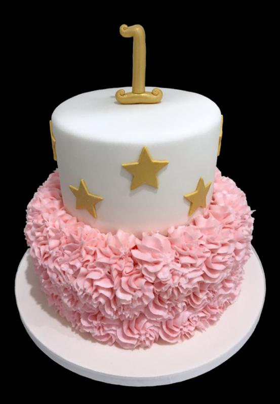 Fluffy Stars Birthday Cake