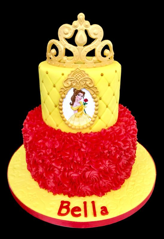 Belle Beauty and the Beast Birthday Cake