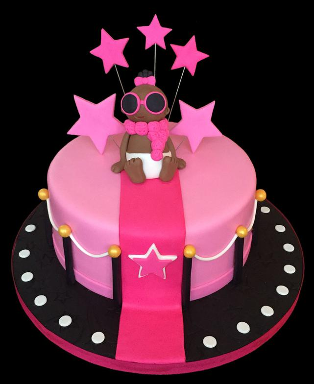 Baby Super Star Birthday Cake