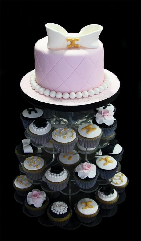 Coco Chanel Cake & Cupcake Tower