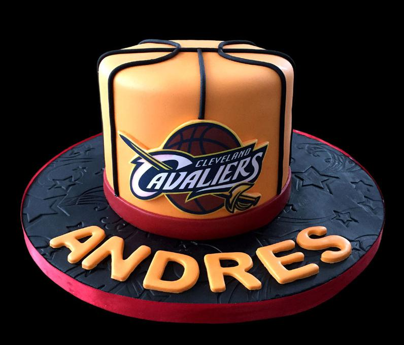 Basketball Sports Theme Fondant Cake